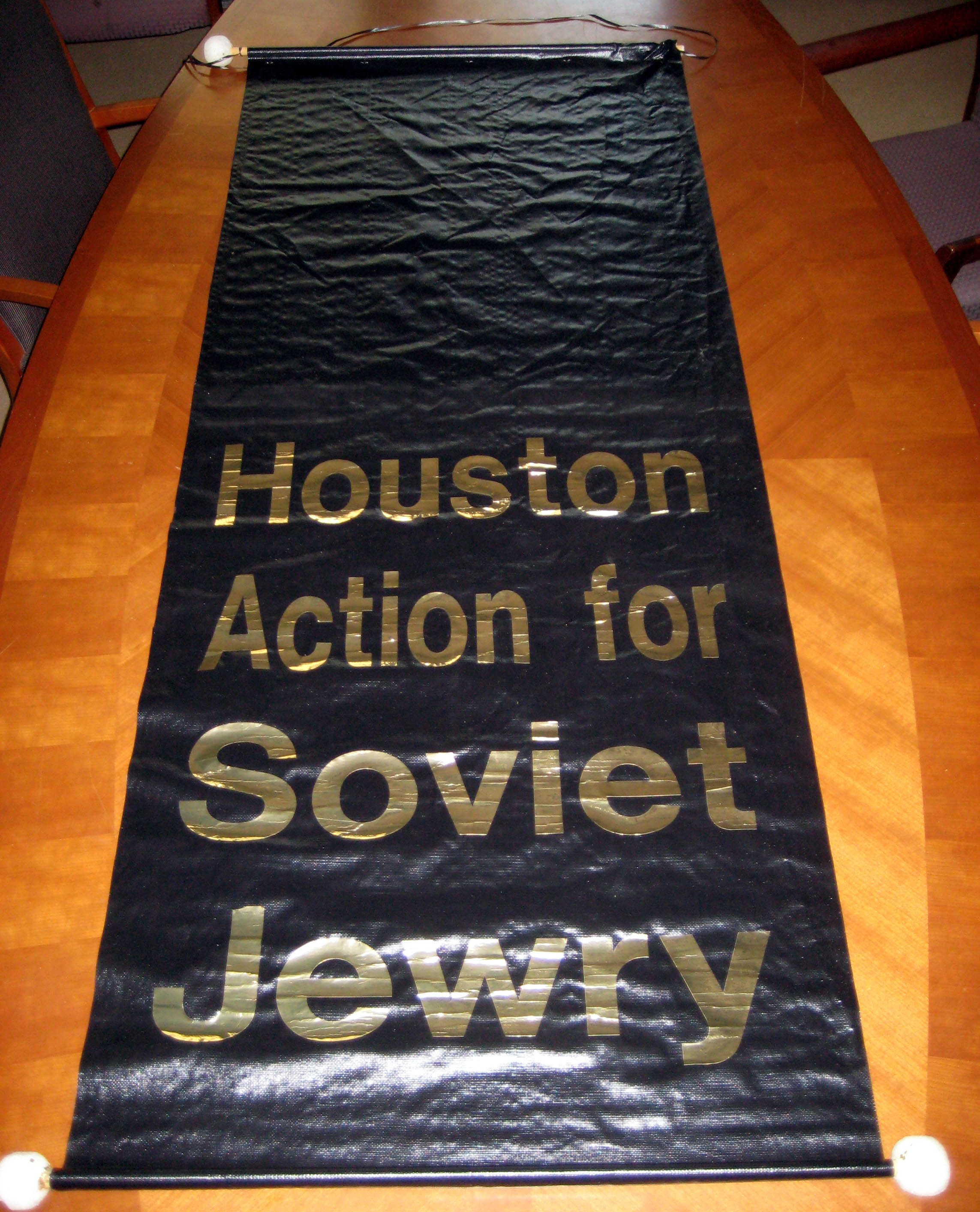 Houston Action for Soviet Jewry Banner, undated